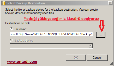 Sql Server Yedek (Backup) Almak