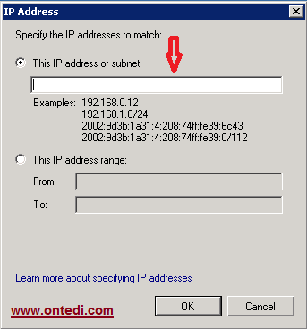 Windows Server 2008'de Ip Engelleme Adım 6