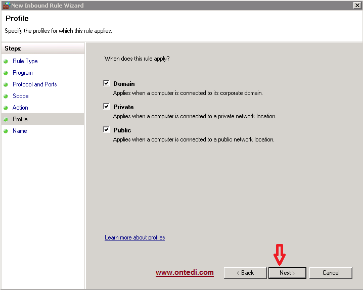 Windows Server 2008'de Ip Engelleme Adım 9
