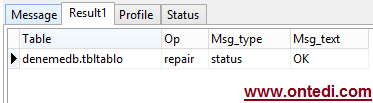 MySQL Table is Marked as Crashed and Should be Repaired Hatası